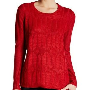 NWT Joe Fresh red sweater
